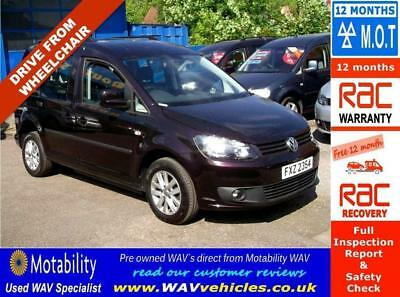2013 63 Volkswagen Caddy 1.6 C20 Life Tdi 5D Auto Sirus Drive From Wheelchair