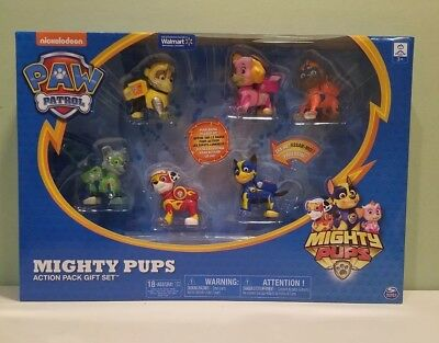 PAW Patrol Mighty Pups 6-Pack Gift Set with Light-up Badges exclusive set
