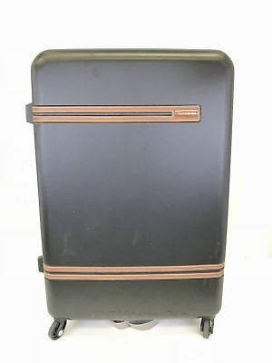 "Samsonite 29.5"" Black Hardshell Leather Deco Luggage"