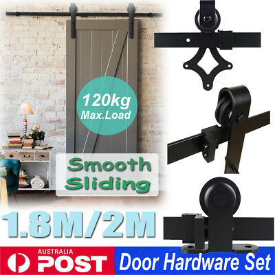1.83M 2M Sliding Barn Door Hardware Track Set Closet Bedroom Interior AU Ship