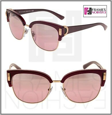 6f240c96cd424 BVLGARI COIN BV8189 Violet Burgundy Pink Silver Mirrored Square Sunglasses  8189