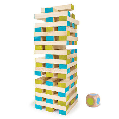 Bs Toys Tumbling Tower Wooden Blocks Fun Indoor Outdoor Activity Game *New**