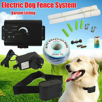 Electric Hidden Dog Fence System Waterproof Pet Training Fencing Receiver Collar
