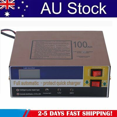 12V/24V 100AH Electric Car Auto Battery Charger Intelligent Pulse Repair Type BG