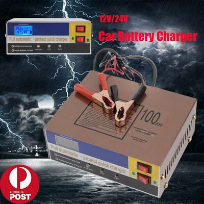 Electric Car Auto Battery Charger 12V/24V 100AH Intelligent Pulse Repair Type BG