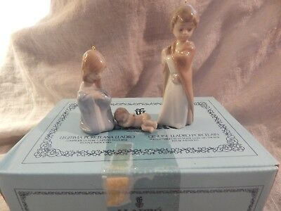 Lladro Mini Holy Family Figurines Ornaments 5657 Jesus Mary Joseph Box Nativity