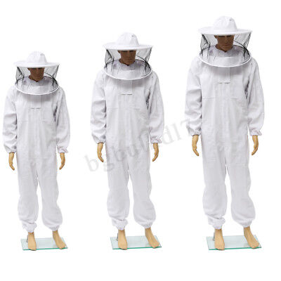 Beekeepers Bee keeping Protection Suit ventilated Veil Hat jacket Veil XL-XXXL