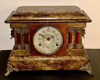 Antique Seth Thomas Large Adamantine Clock Made For Chandler Bros 1901 WORKS!