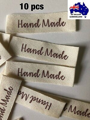 WOVEN LABELS 10pcs, Clothing Label, DIY, Cloth Label, Handmade, Sew On Label, BN