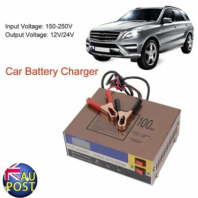 12V/24V 100AH Electric Car Auto Battery Charger Intelligent Pulse Repair Type RO