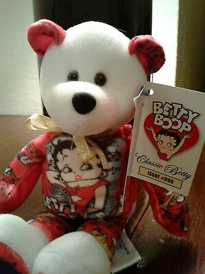 """Betty Boop Beanie Bear 8"""" Gallery Treasures """"Classic Betty""""  #006 2005 Excellent"""