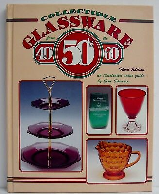 40s 50s 60s Glassware Glass Collecting Book Identification Value Gene Florence