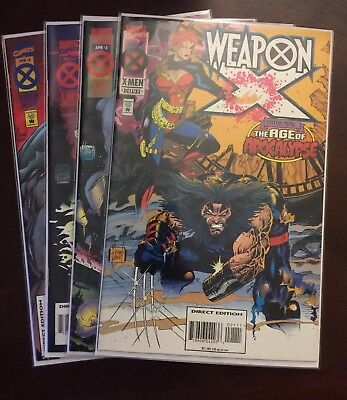 WEAPON X: THE AGE OF APOCALYPSE #1-4 (1995) Marvel Complete Set!