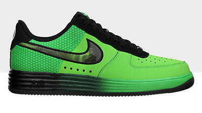 reputable site 31e82 76e08 SZ 8 Nike Lunar Force 1 LTHR Poison Green Black Men s LF1 580383-300 Leather