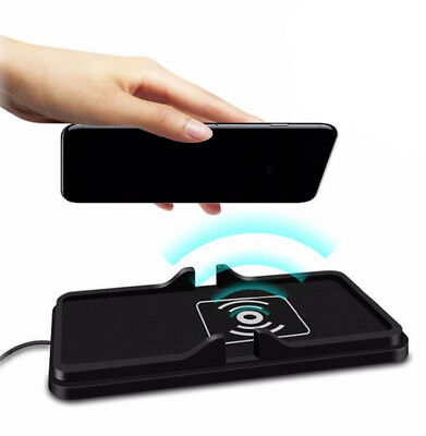 Qi Wireless Fast Phone Charger Non-Slip Car Dashboard Holder Mount for Phone