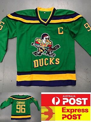 Ice Hockey Mighty Ducks Movie jersey #96 Conway green color