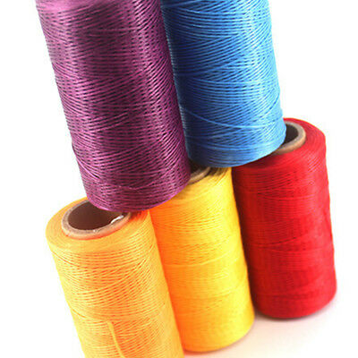 AU 260M 1MM Leather Sewing Waxed Thread Hand Wax Stitching Repair Cord Craft