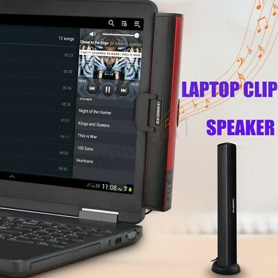 Mini Portable USB MP3 Laptop Computer PC Audio Sound Bar Speaker Music Player