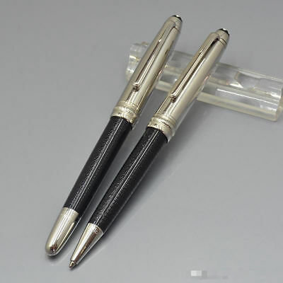 High Quality MB Luxury 163 Black And Silver Pen Rollerball Ballpoint Office