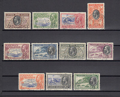 CAYMAN ISLANDS 1935 SG96/106 USED Cat £124.60