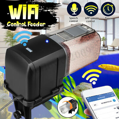Automatic WiFi Smart Fish Feeder Control Timer Food Dispenser For Fish Tank