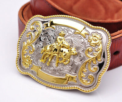 BULL RIDE RODEO Long Huge Rodeo Cowboy Western Gold Silver
