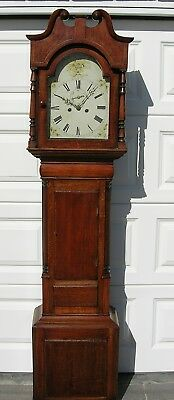 Early Period Eight Day Arch White Dial Long Case Clock