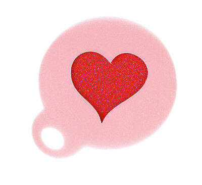 Love Heart Coffee Duster Mylar Stencil Approx 8.5cm Washable Reusable