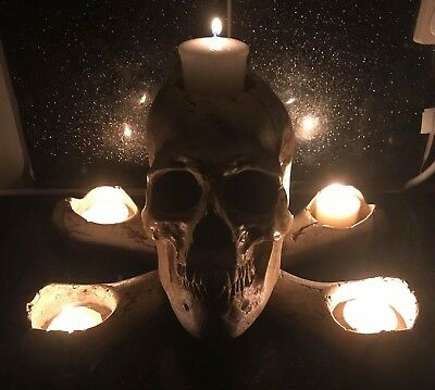 Latex Mould to Create a Spooky Skull Candle Holder Ornament Hobby #Halloween