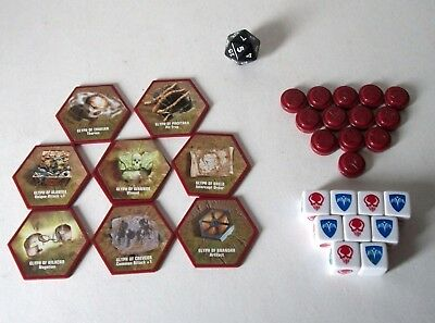 Heroscape Dice D20 Glyphs Markers Game Parts Lot Replacement Swarm of the Marro