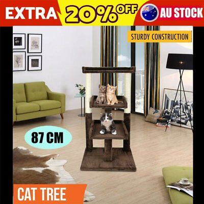 Pet Cat Scratching Post Tree Gym House Condo Furniture Scratcher Kitten Toy 87CM