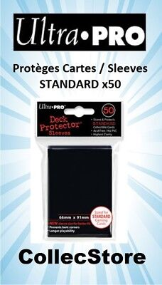 ☺MTG/POKEMON Lot de 50 Protèges Cartes/Sleeves Ultra Pro STANDARD : Noir