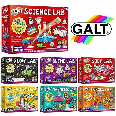 Galt Science Lab Experiment Kit Slime, Body, Forces, Glow, Rainbow Magnetic STEM