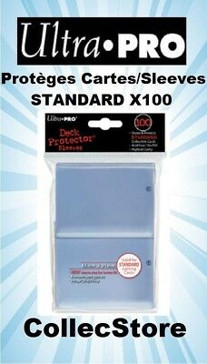 ☺MTG/POKEMON Lot de 100 Protèges Cartes/Sleeves Ultra Pro STANDARD : Transparent