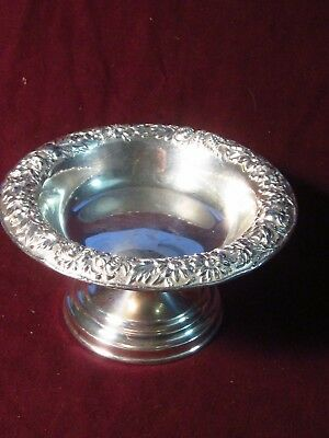 Sterling S. Kirk & Son Inc  CANDY DISH OR COMPOTE #408 Repousse Partial Chased