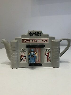 TEAPOTTERY SWINESIDE England NOVELTY COLLECTABLE TEAPOT Ritzy Some Like It Hot