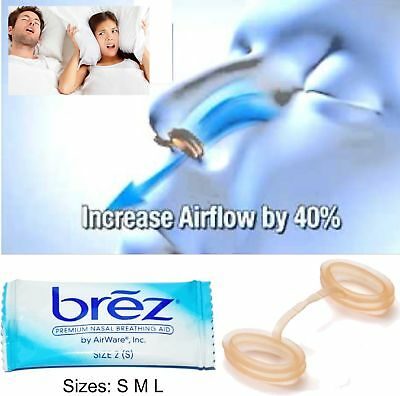 Brez Anti Snoring Device Breathing Sleep Aid Nasal Air Vent No Strip Nose Clip