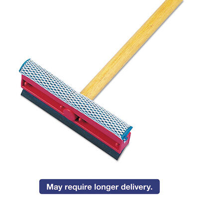 "Boardwalk General-Duty Squeegee 8"" Sponge/Rubber Blade Black/Red 21"" Metal"