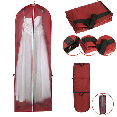 Portable Wedding Dress Dust-proof Bag Zip Clothes Folding Storage Space Saving