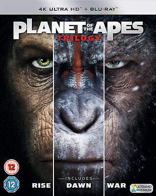 Planet Of The Apes Trilogy (4K Ultra HD) Rise / Dawn / War