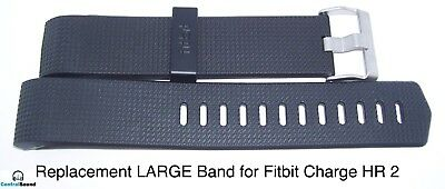 Replacement Band Strap Wrist LARGE BLACK for Fitbit Charge 2 HR Activity Tracker