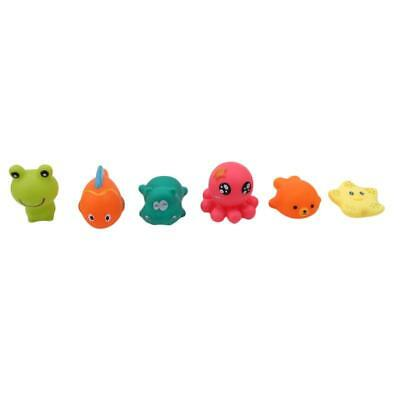 Cute Soft Rubber Float Squeeze Sound Dabbling Toys Baby Wash Play Animals Y