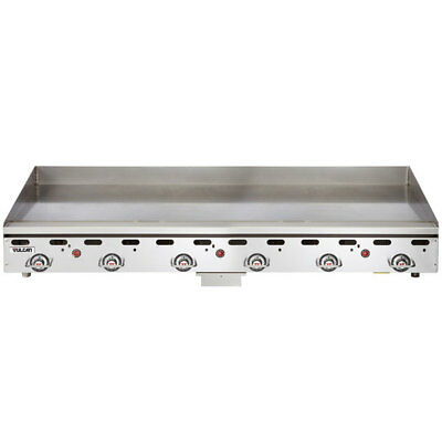 "Vulcan 72"" Countertop Natural Gas Griddle"