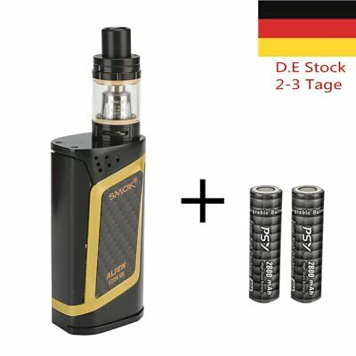 SMOK Alien Kit 220W E Zigarette TFV8 Baby Beast Alien Box Full Kit Akku Gold