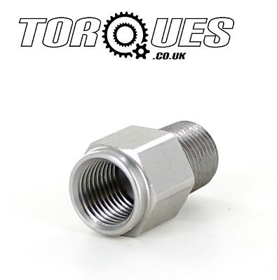 "1/8"" NPT Male to M10x1.0 Female Stainless Steel Oil Pressure Gauge Adapter"