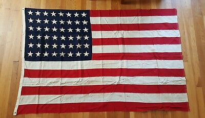 Original Rare WW2 WWII America American 48 Star Flag Flown Over US Capitol 4'x6'