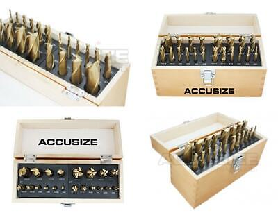 Accusize Industrial Tools 20 Pc H.S.S. Tin Coated End Mill Set, Metric...
