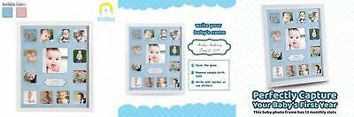 Collage Photo Frame for Baby First Year Keepsake - 12 Months Picture Frames...