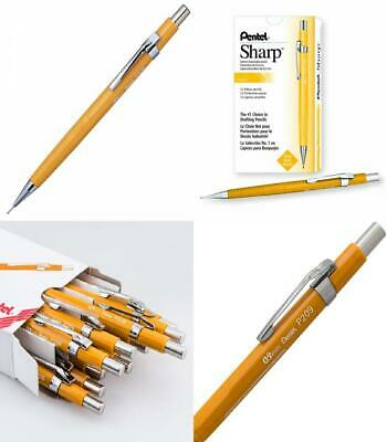 Pentel Sharp Automatic Pencil, 0.9mm Lead Size, Yellow Barrel, Box of 12 (P209G)