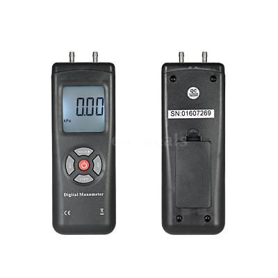 Professional Hand-held LCD Digital Dual-port Manometer Differential Air I1E9